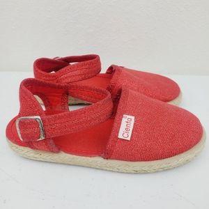 Cienta Red Glitter Espadrilles Sandals Toddlers
